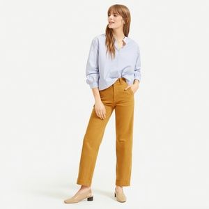 Everlane Straight Leg Cropped in Golden Brown